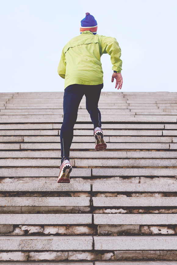 Laufen Treppen steigen